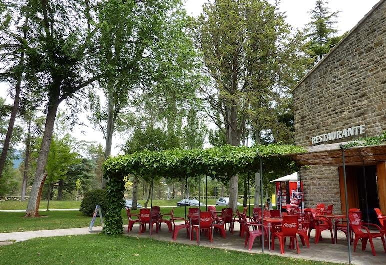 Hotel El Mesón,  Javier, Speisen im Freien