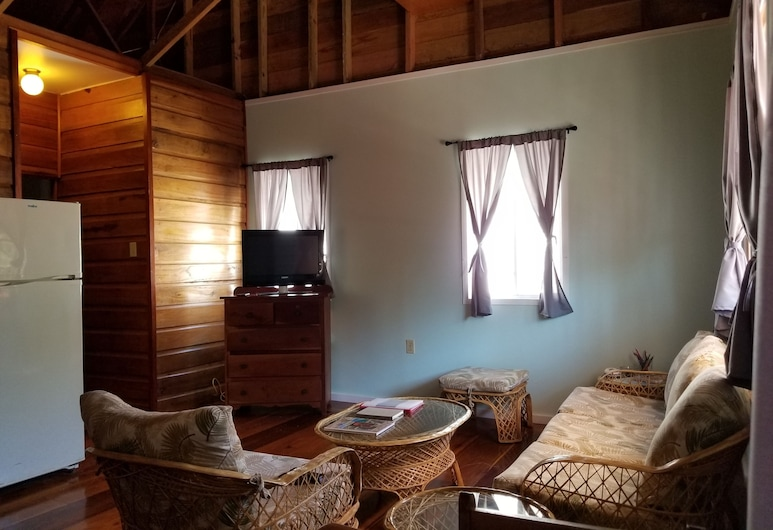 Canuck Cottage Holiday Home, Cayo Corker, Habitación, 1 cama de matrimonio, no fumadores, Zona de estar