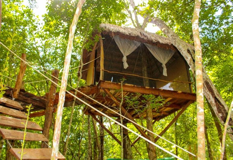 Casa Aztlan, Francisco Uh May, Casa en el árbol, 2 camas dobles (Zacjabin), Habitación