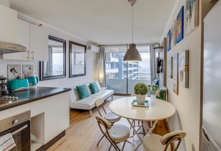 Altos Alameda, Santiago, Apartmán, 2 spálne, súkromná kúpeľňa (A1), Obývacie priestory