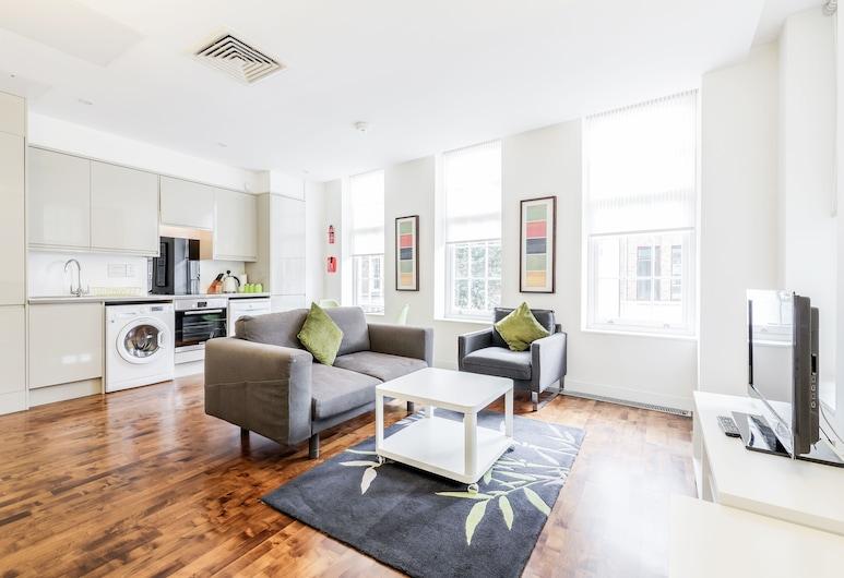 LCS Liverpool Street Apartments, London, Superior külaliskorter, 1 kahevoodi, suitsetamine keelatud, Elutuba