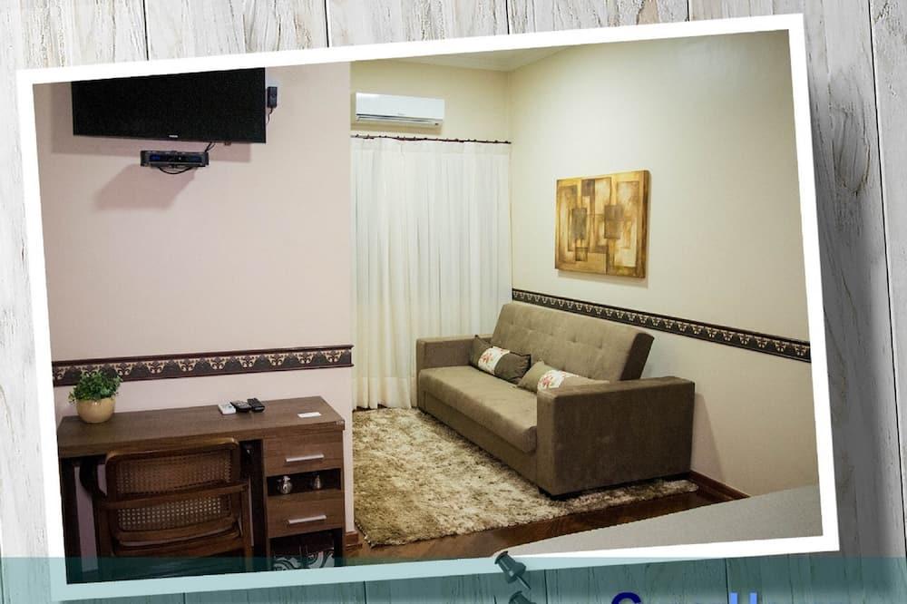 Comfort dubbelrum - 1 queensize-säng - icke-rökare - Vardagsrum