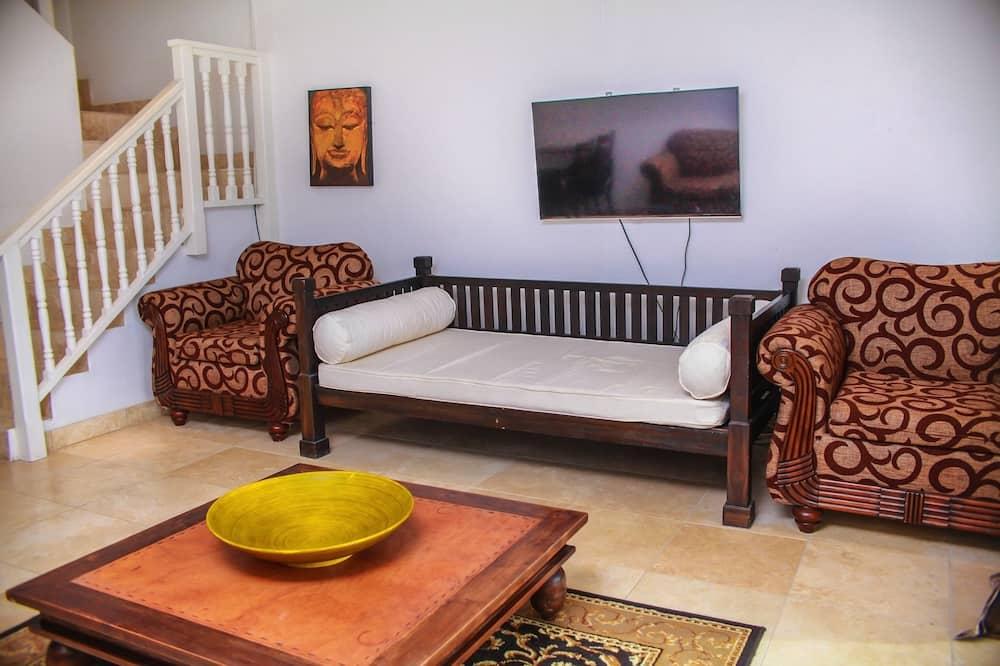 Byhus – luxury, 1 queensize-seng, ikke-røyk - Oppholdsområde