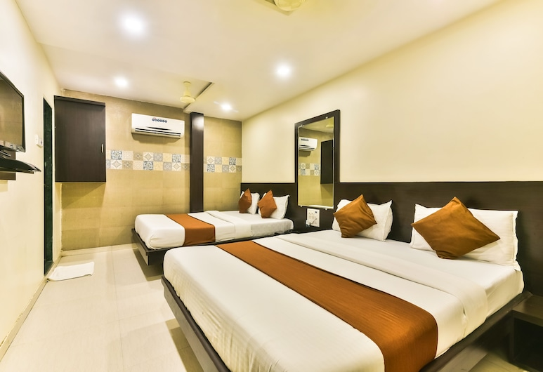 Guest Inn Hospitality-Bandra Kurla Complex, Bombay, Deluxe Üç Kişilik Oda, Birden Çok Yatak, Sigara İçilmez, Oda