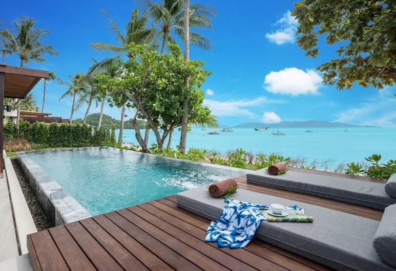 피스 리조트, 코사무이, 2 Bedroom Presidential Beachfront Pool Villa, 테라스/파티오