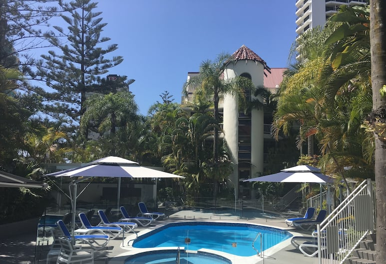 Copacabana Holiday Apartments, Surfers Paradise, Udendørs pool