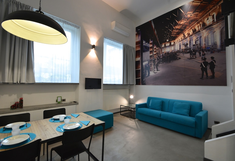Residence Star, Turin, Comfort-Apartment (35 mq), Wohnbereich