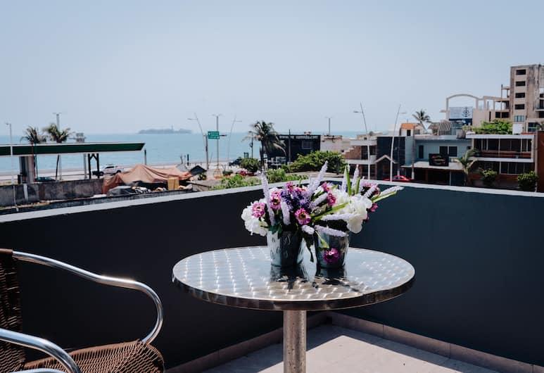 Hotel Venedik, Veracruz, Deluxe Oda, 1 En Büyük (King) Boy Yatak, Kısmi Deniz Manzarası, Kule, Teras/Veranda