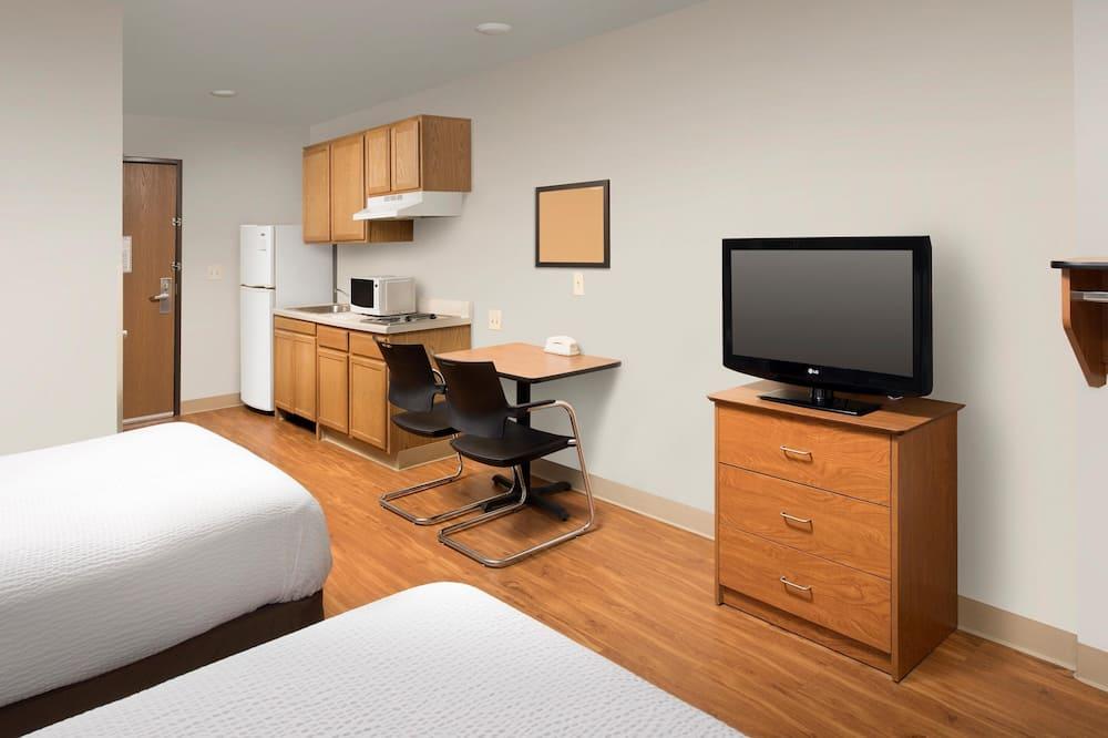 Standardværelse - 2 queensize-senge - ikke-ryger - Opholdsområde