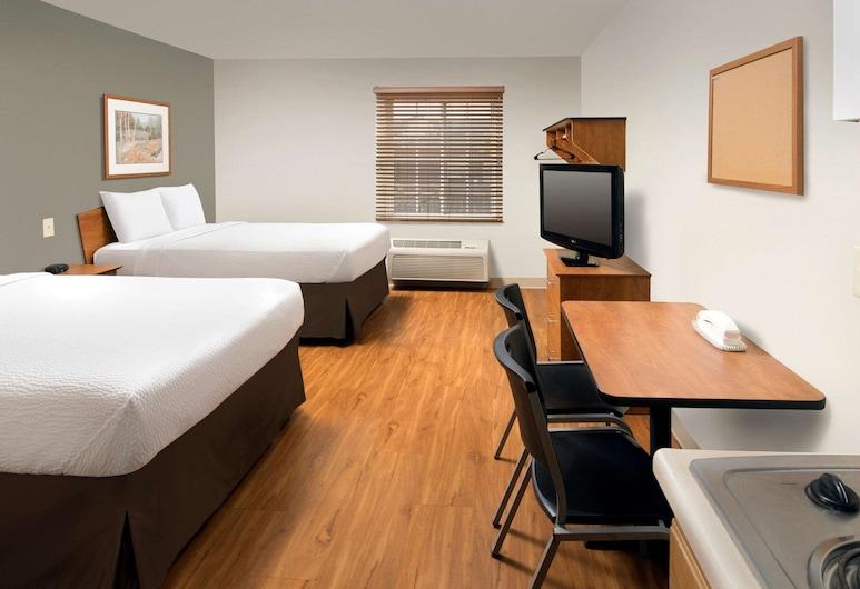 WoodSpring Suites Cleveland Mentor, Mentor, Estudio estándar, 2 camas dobles, cocina, Habitación