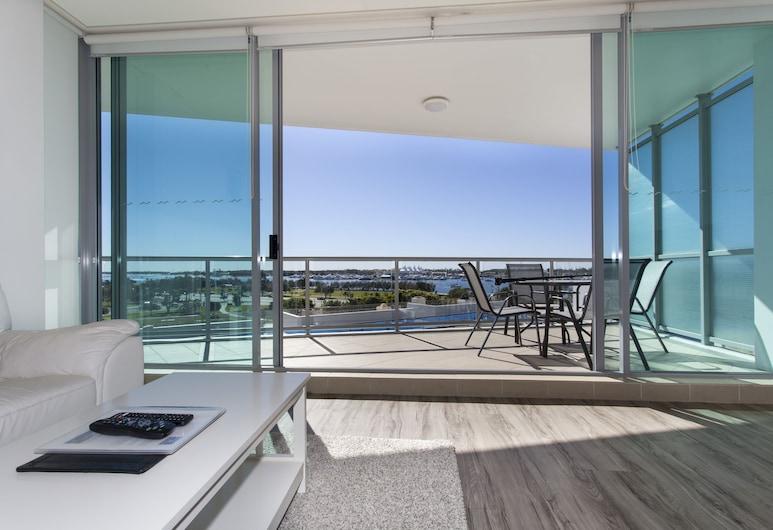 Brighton on Broadwater Shores, Southport, Apartamento, 2 habitaciones, vistas al mar (Queen + 2 Singles), Zona de estar