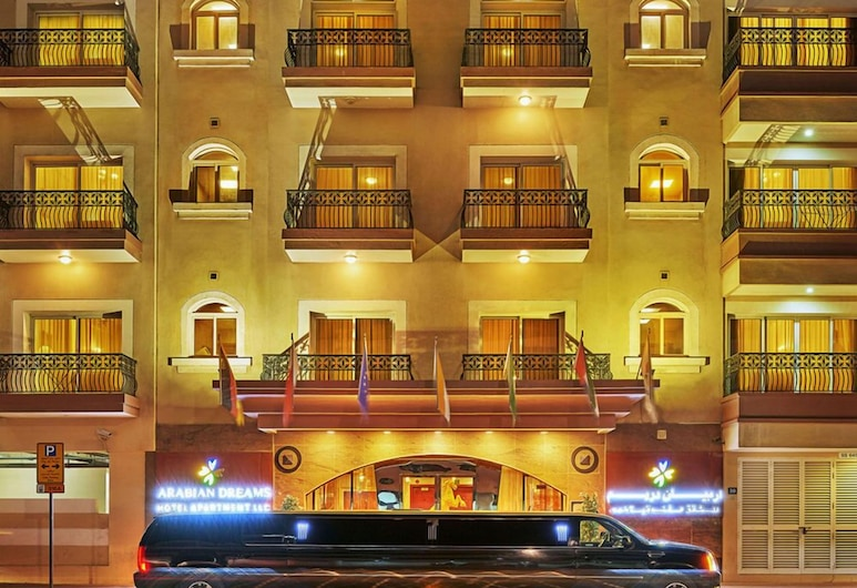 Arabian Dreams Deluxe Hotel Apartments, Dubai, Front of property - evening