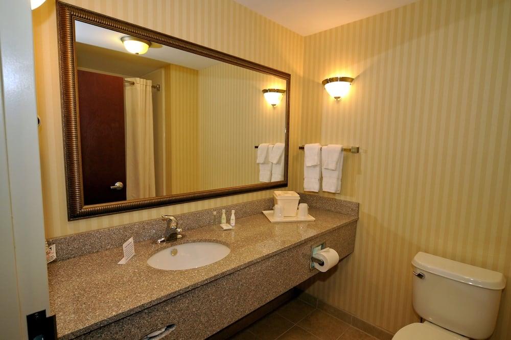 Apartmán, 1 extra veľké dvojlôžko s rozkladacou sedačkou, nefajčiarska izba - Kúpeľňa