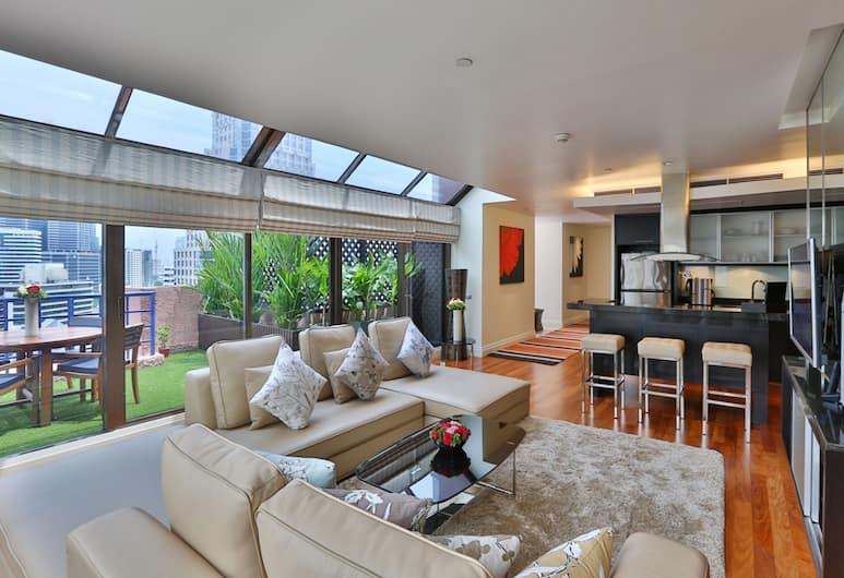 シリ サトーン ホテル, バンコク, Penthouse Two-bedroom Suite , 室内のダイニング