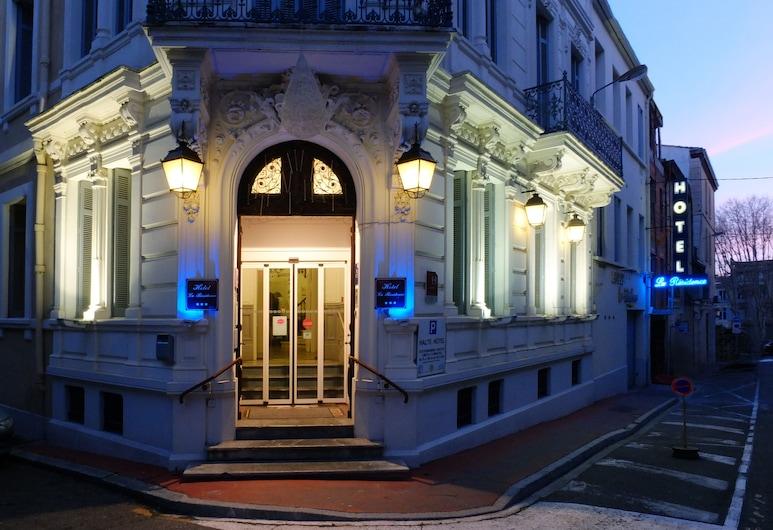 Hotel La Residence, Narbonne, Fassaad õhtul/öösel