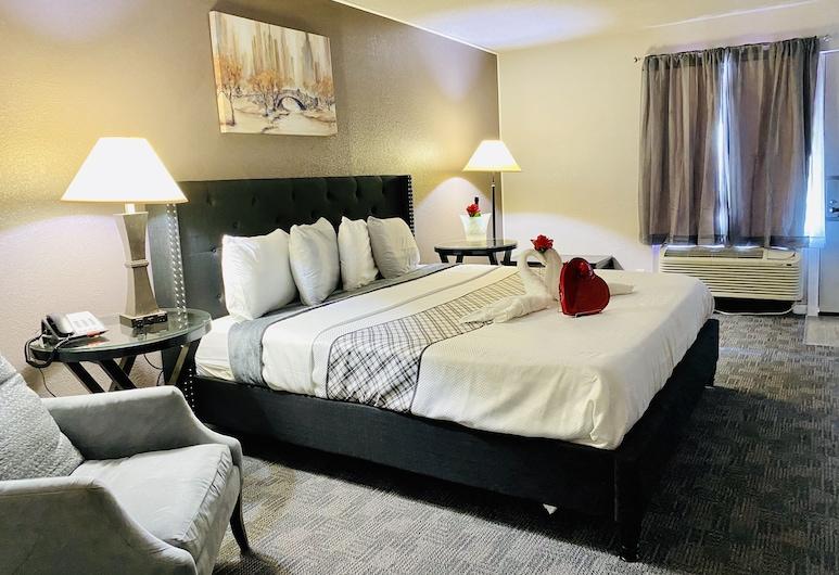 R Nite Star Inn & Suite, Arlington, Superior Oda, 1 En Büyük (King) Boy Yatak, Havuz Kenarı, Oda