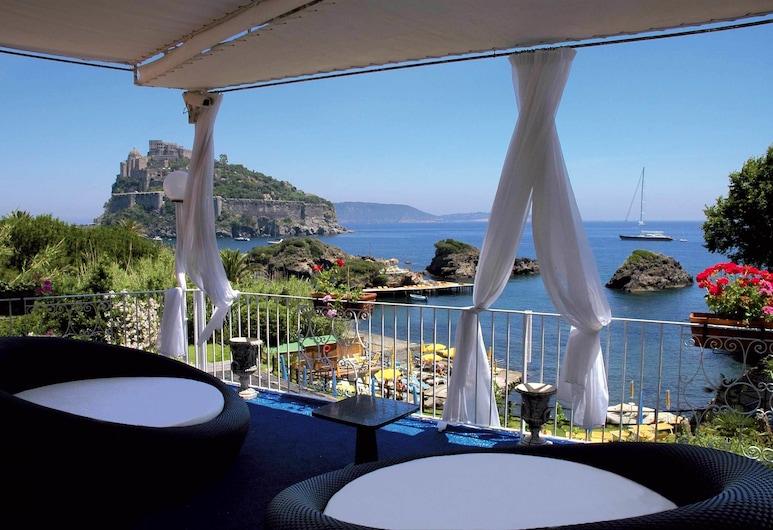 Strand Hotel Terme Delfini, Ischia, Terrasse/veranda