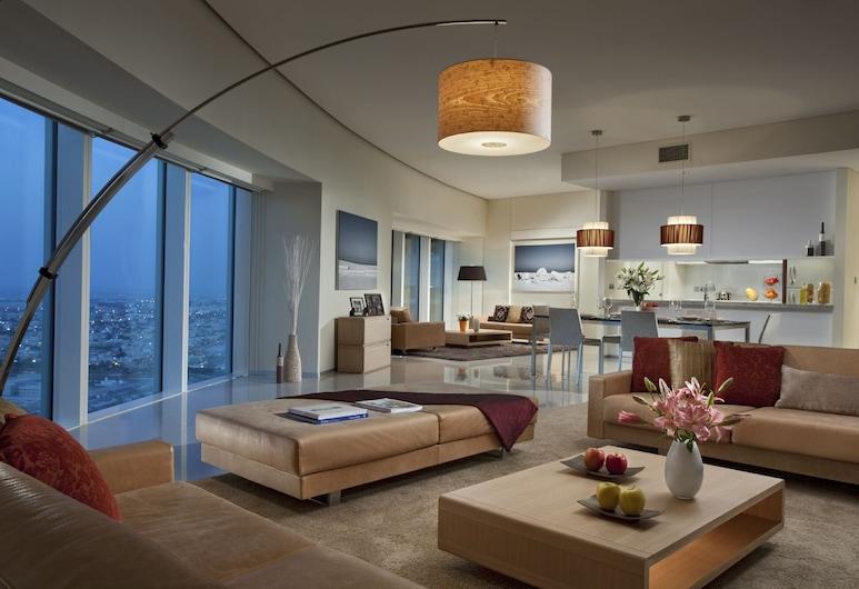 Ascott Park Place Dubai, Dubai, Premier-rum - 2 sovrum, Vardagsrum