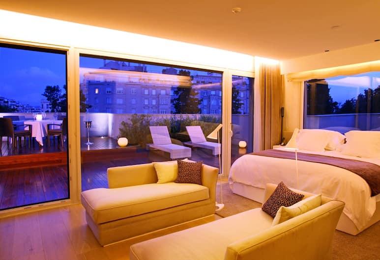 ABaC Restaurant & Hotel, Barcelona, Penthouse, Gästrum