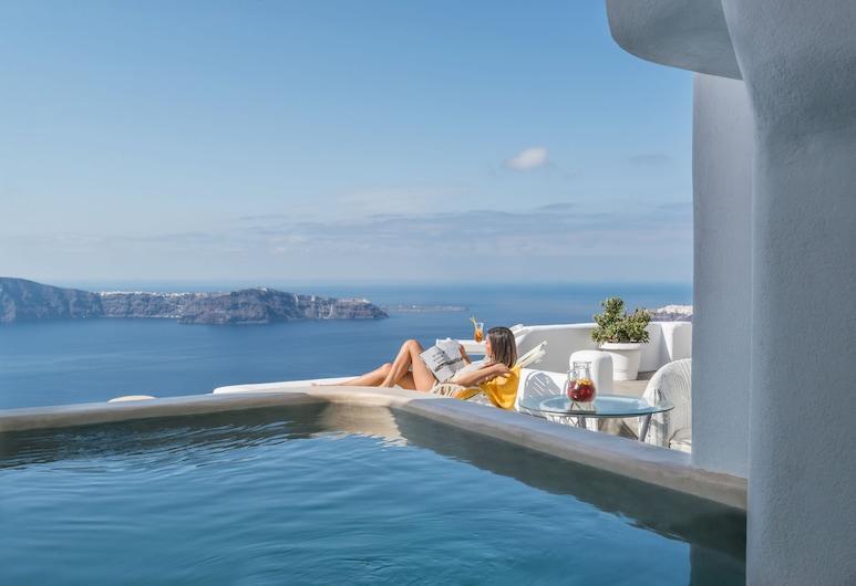 Iliovasilema Suites, Santorini, Suite, Private Pool (Master,  Caldera View), Terrace/Patio