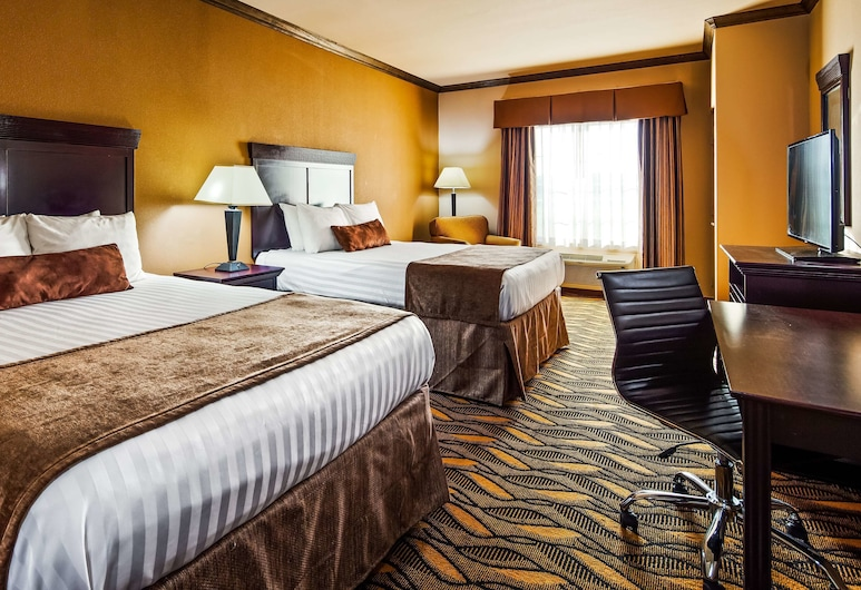 Best Western Red River Inn & Suites, Thackerville, Standard Room, 2 Queen Beds, Non Smoking, Refrigerator & Microwave, Guest Room