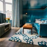 Luxury-Suite, 1King-Bett, Balkon, Hafenblick - Wohnzimmer