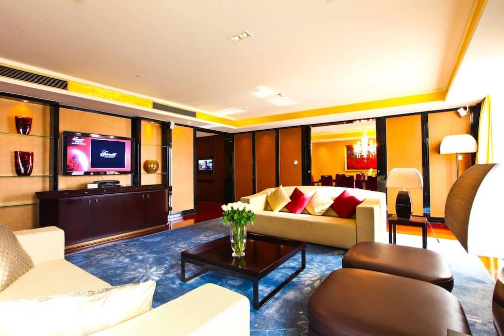 Fairmont Gold, סוויטת סיגנצ'ור, מיטת קינג, ללא עישון - אזור מגורים