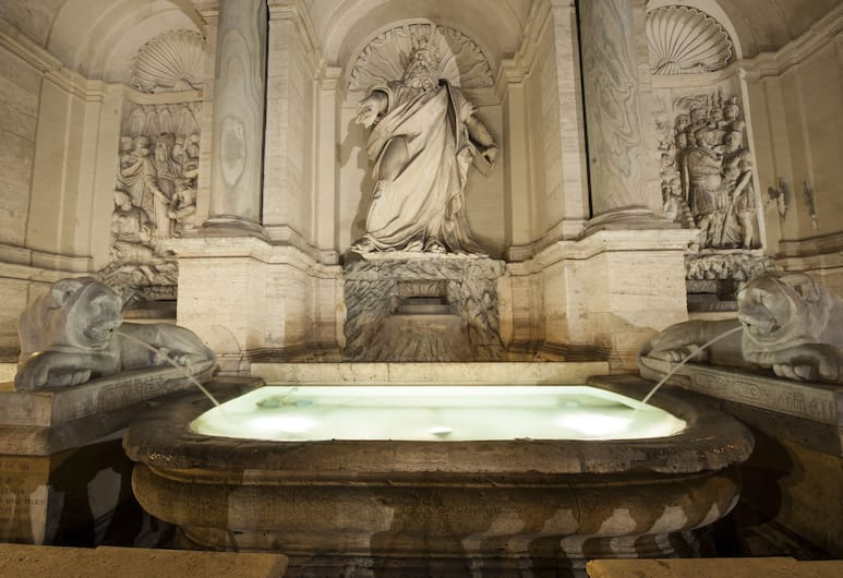 Moses Fountain, Rom, Utsikt från hotellet