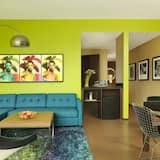 Suite, 1 kingsize bed, Uitzicht op de stad - Woonkamer