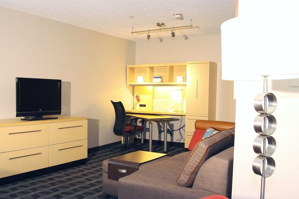 Студия, 1 двуспальная кровать «Квин-сайз», для некурящих - Зона гостиной