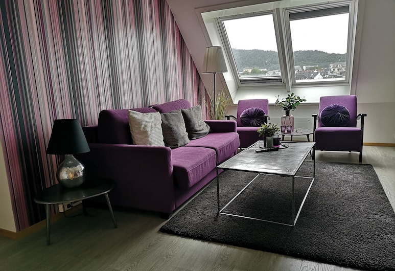 Ole Bull Hotel & Apartments, Bergen, Superior Penthouse, Living Room