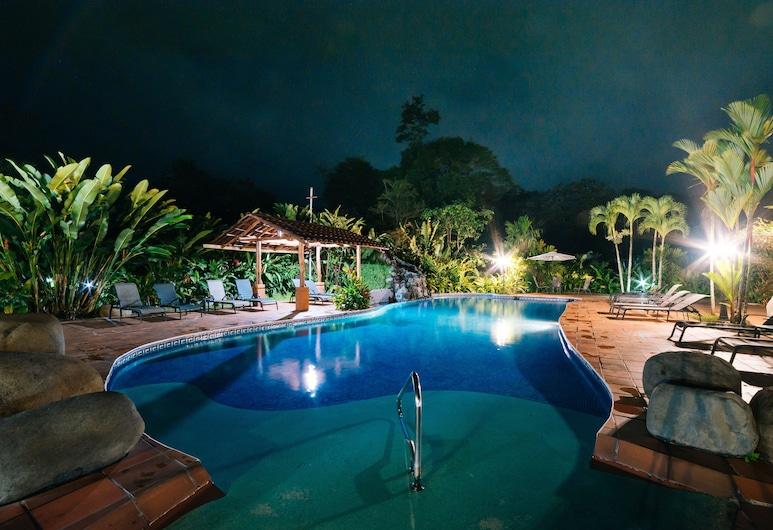 月光溫泉酒店, La Fortuna, 室外泳池