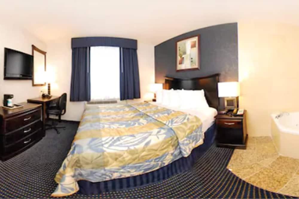 غرفة كلاسيكية - سرير كبير - لغير المدخنين - مغطس بمضخات للمياه