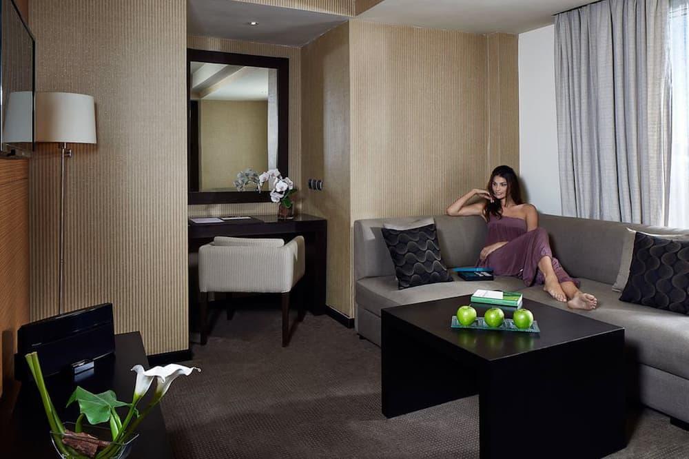 Suite, 1 Queen-Bett - Wohnzimmer