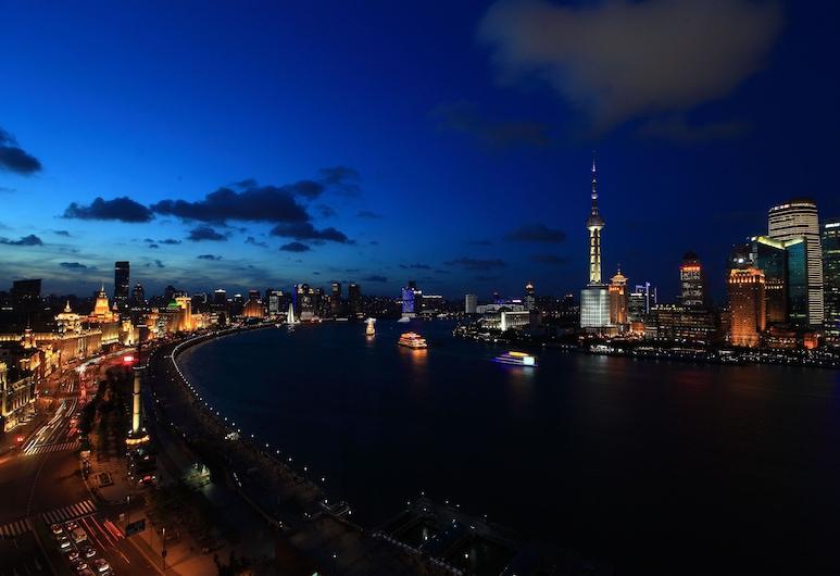 上海外灘東方商旅酒店, 上海市, 飯店入口 - 夜景