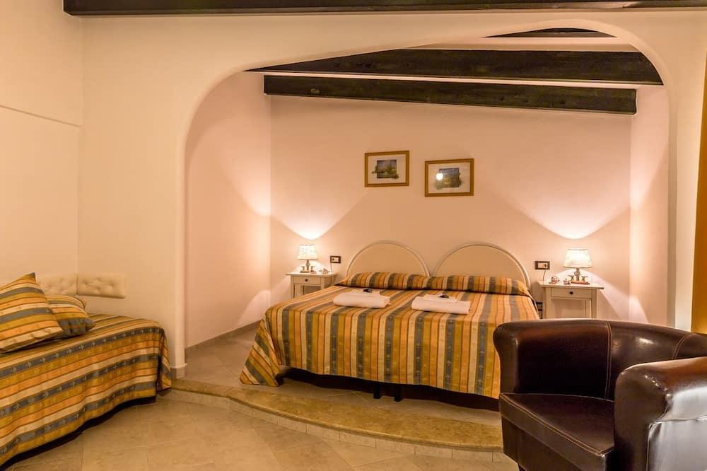 Superior Double Room, Balcony, Sea View - Living Area