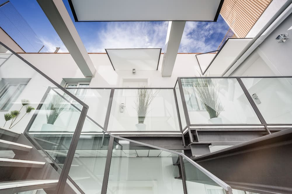 Doppelzimmer zur Einzelnutzung - Blick auf den Innenhof