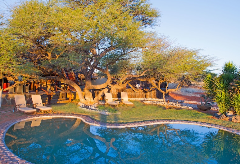 كاميلثورن كالاهاري لودج, محمية إنتو أفريكا كلهاري الخاصة, حمّام سباحة خارجي