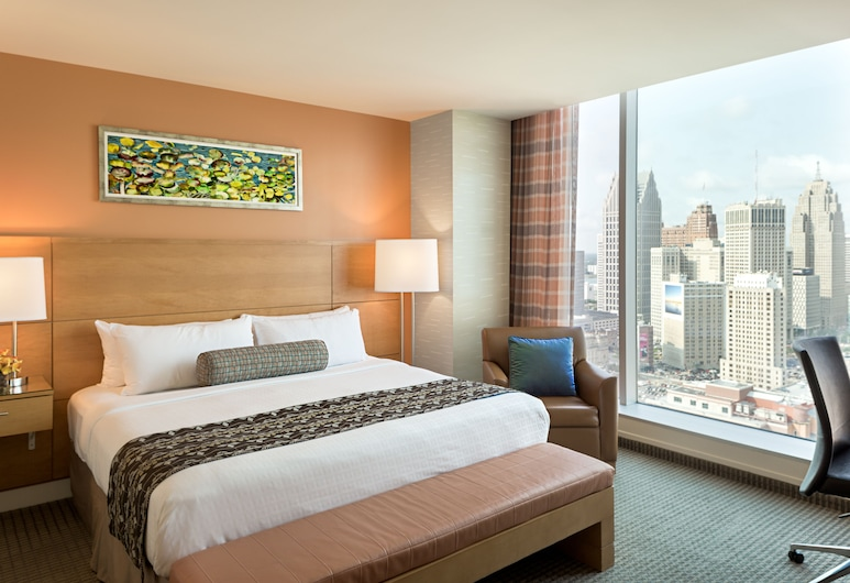 Greektown Casino Hotel, Detroit, Executive Room, 1 King Bed, Guest Room View
