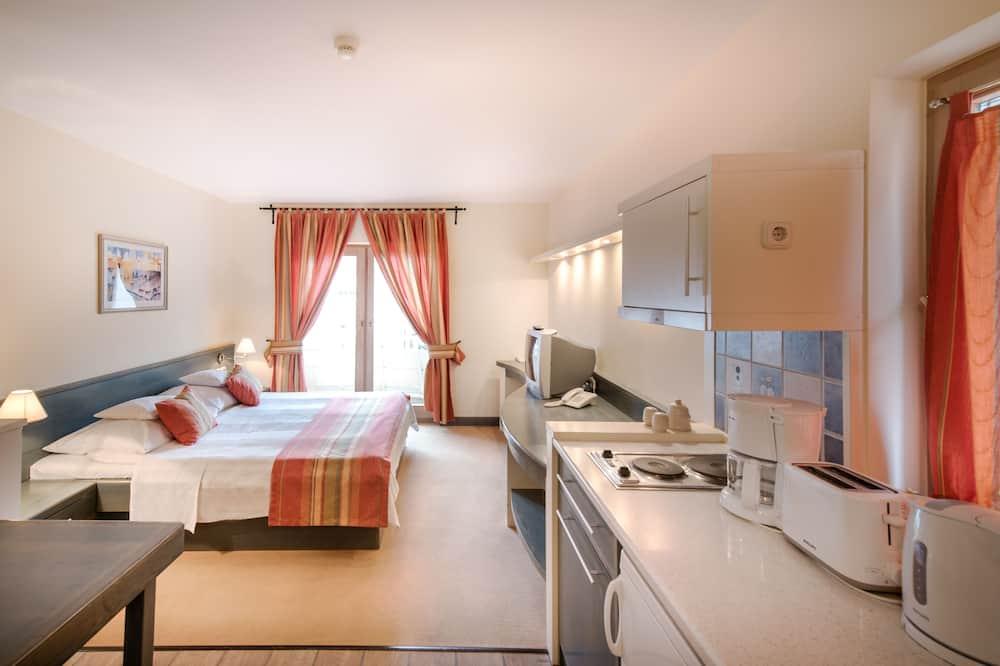 Studija su pagrindiniais patogumais, 1 miegamasis, vaizdas į miestą - Vakarienės kambaryje