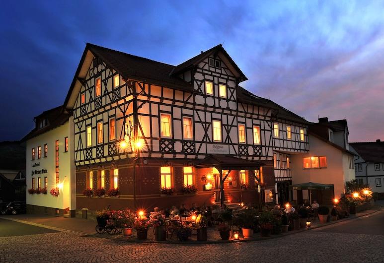 Landhotel Zur Grünen Kutte, Urnshausen, Hotel Front – Evening/Night