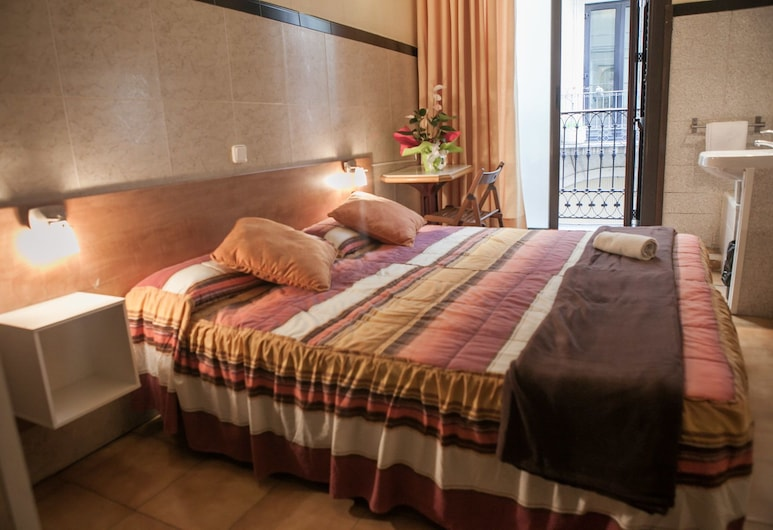 Pensión 45, ברצלונה, חדר זוגי, חדר רחצה פרטי, חדר אורחים