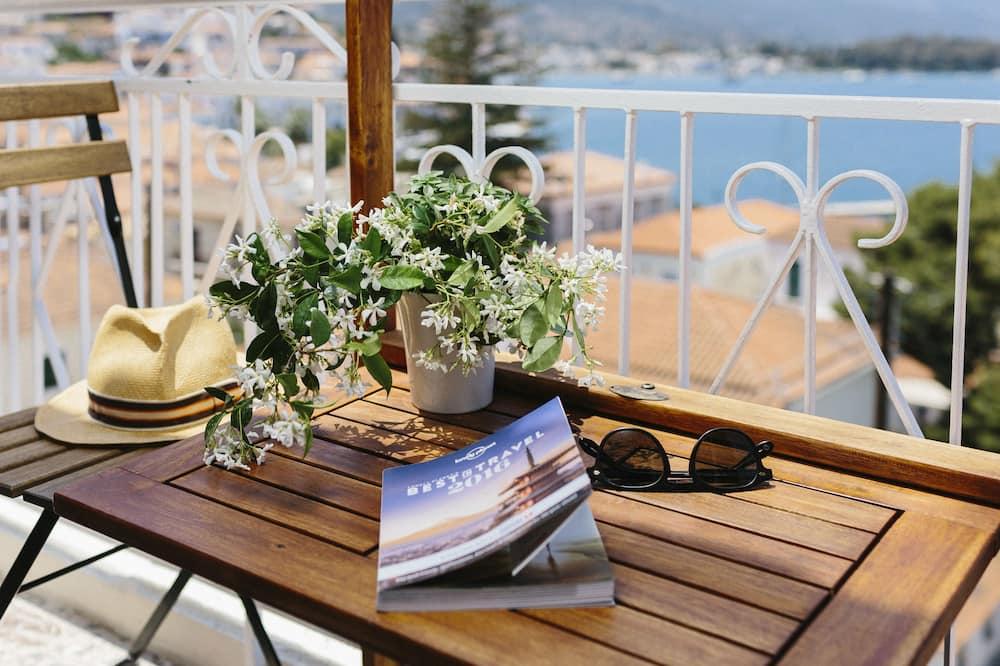 חדר זוגי, נוף לים - מרפסת