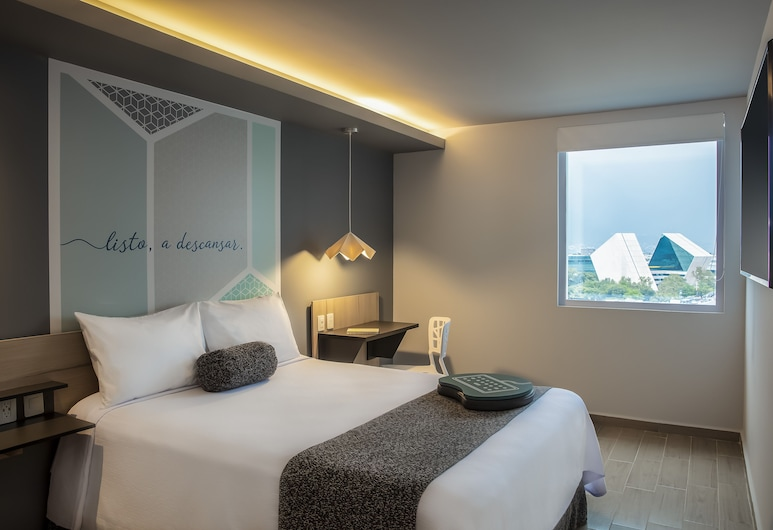 One San Luis Potosi Glorieta Juarez, סן לואיס פוטוסי, חדר, מיטת קווין (xOne Plus), חדר אורחים
