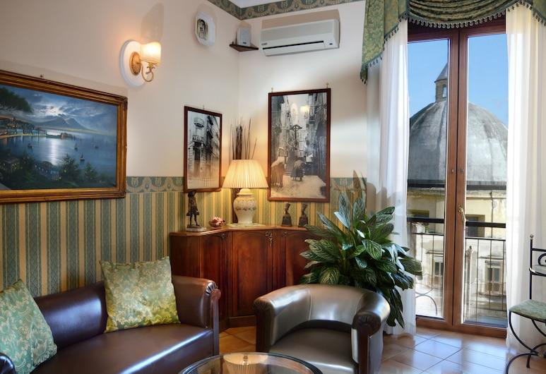 Pinto Storey Hotel, Napoli, Sitteområde i lobbyen