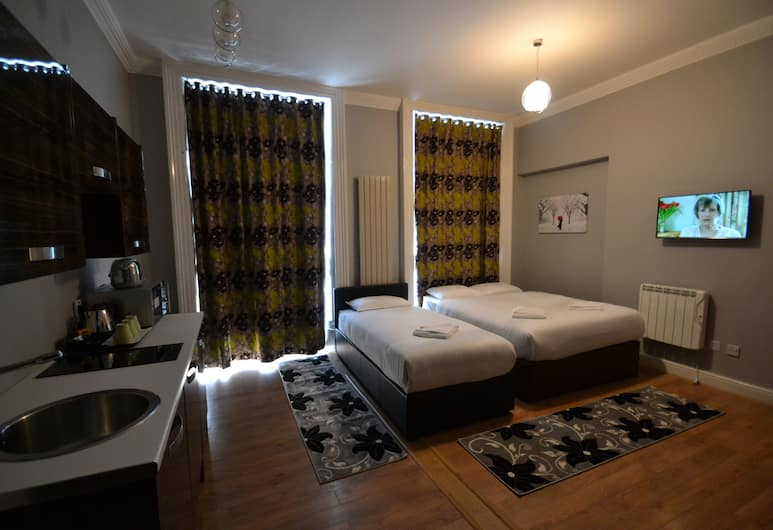 Hyde Park Suites - Apartments, London, Studio Standard (1 Double and 1 Single Bed), Rum