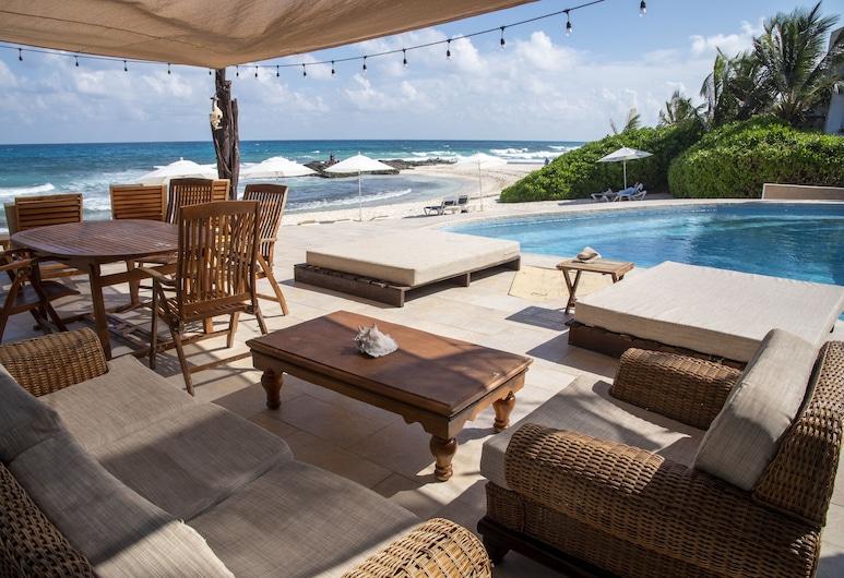 Hotel Playa la Media Luna, Isla Mujeres, Isla Mujeres, Terasa pro slunění