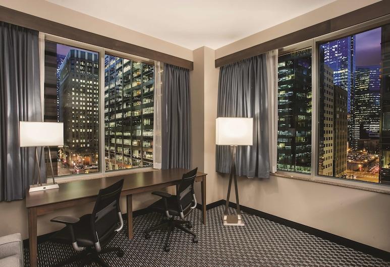 La Quinta Inn & Suites by Wyndham Chicago Downtown, Chicago, Deluxe-Zimmer, 1King-Bett, Nichtraucher, Stadtblick, Ausblick vom Zimmer