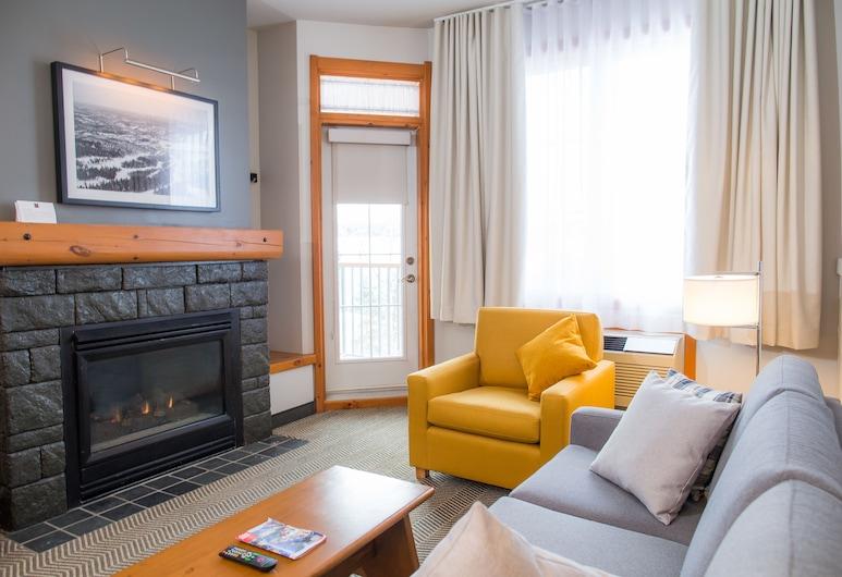 Le Lodge de la Montagne - Les Suites Tremblant, Mont-Tremblant, Suite, 2Queen-Betten, Wohnzimmer