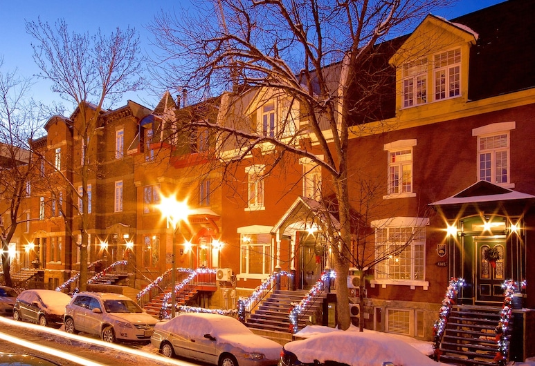Auberge Les Bons Matins, Montreal, Hotel Front – Evening/Night